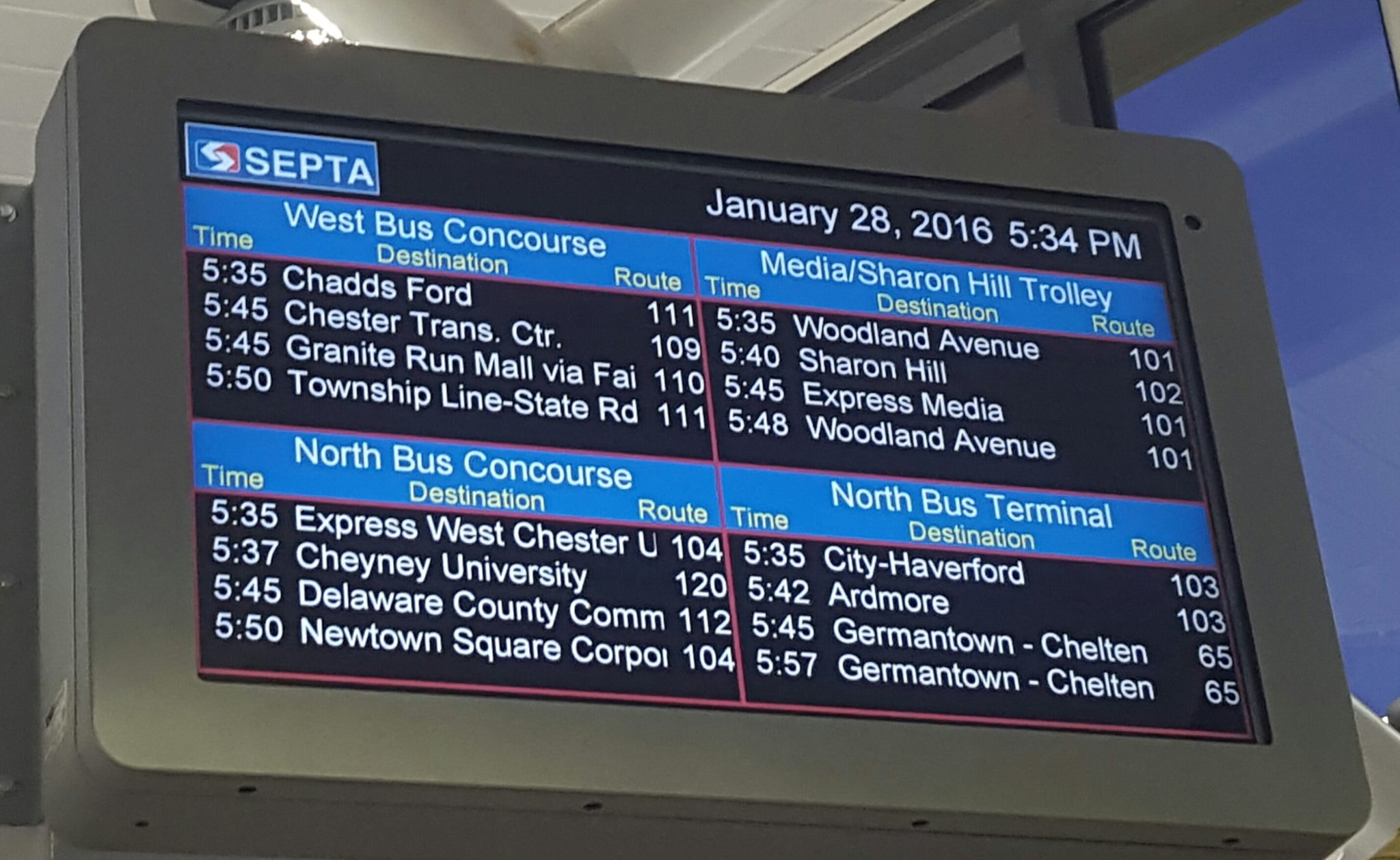 Daktronics | Reliable and Rugged Railway Station Displays