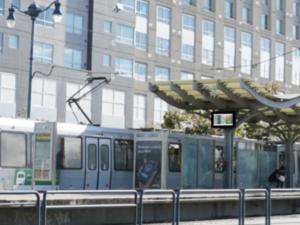 Outdoor Transit Station Display