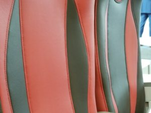 Lightweight Durable Synthetic Upholstery for Rail
