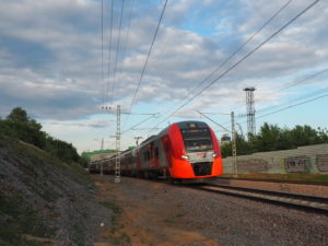 Russian Railways passenger train