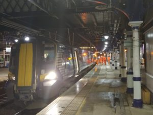 First successful electric train test run between Stirling and Alloa
