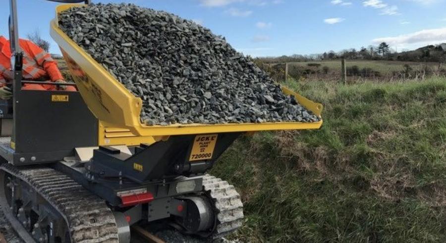 Santon Tracked Dumper Transporting Ballast