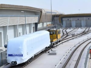 Metropolis trainset arrives in Dubai