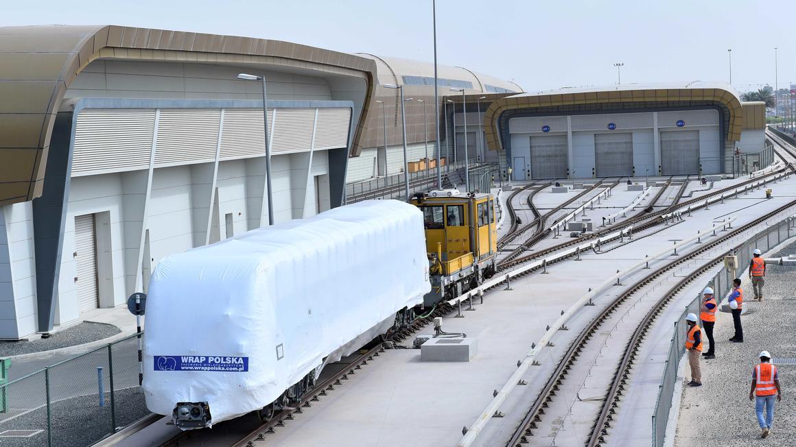 Metropolis trainset arrives in Dubai