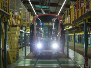 Alstom has provided the trains for the new T2 Nice Airport tram link