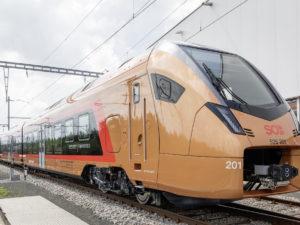 One of the Stadler FLIRT Traverso trains
