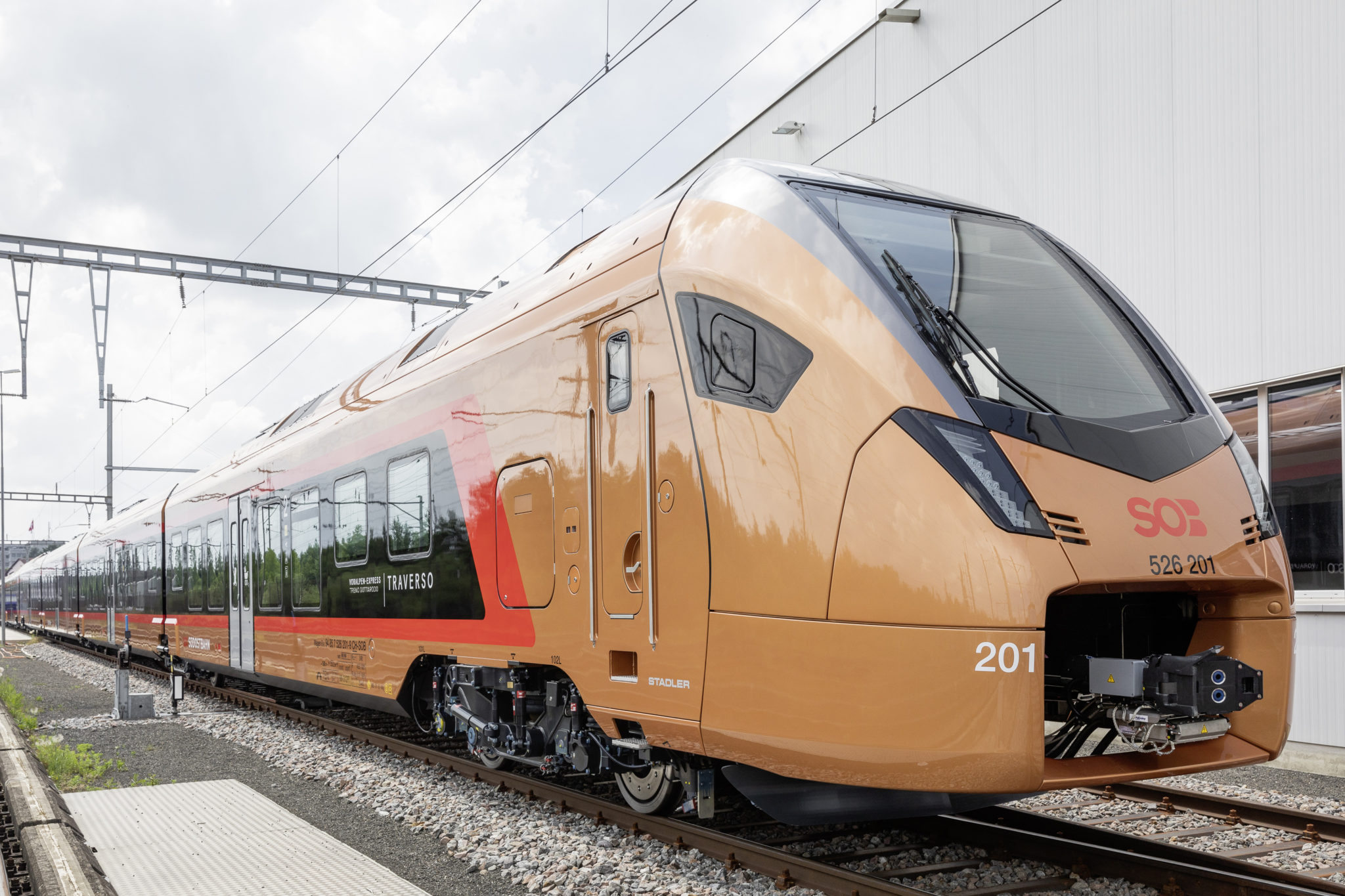 One of the Stadler FLIRT Traverso trains