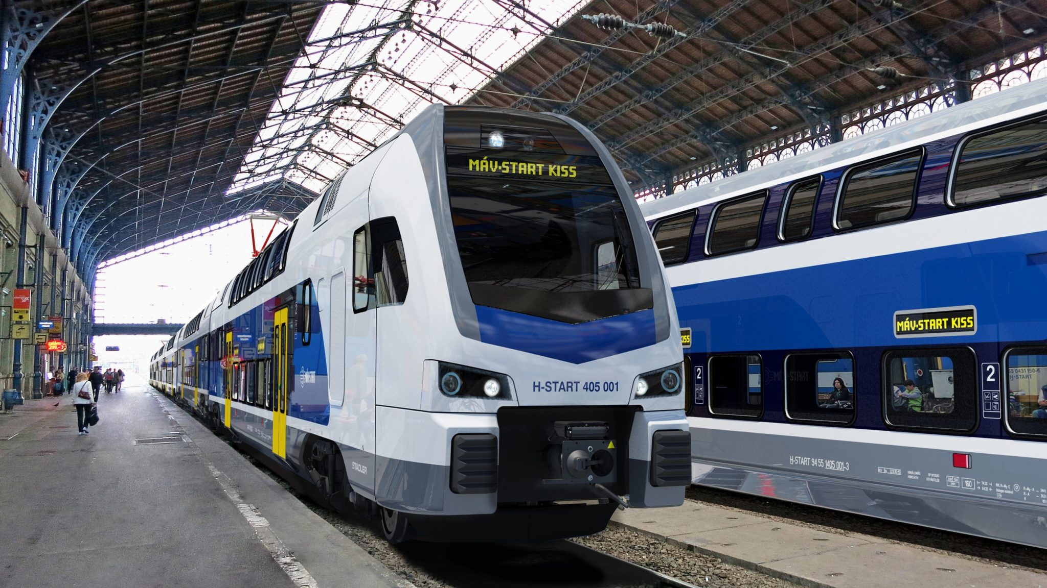 Double-decker KISS train for Hungary