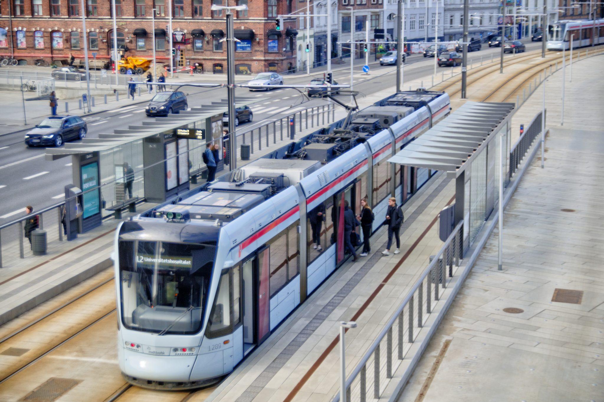 Stadler tram in Aarhus, Denmark