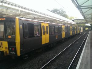 One of the current Tyne and Wear metro trains