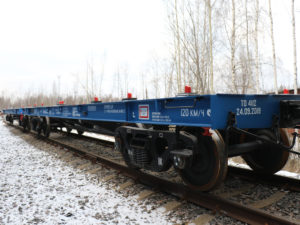 UWC delivers 60 heavy duty flat cars