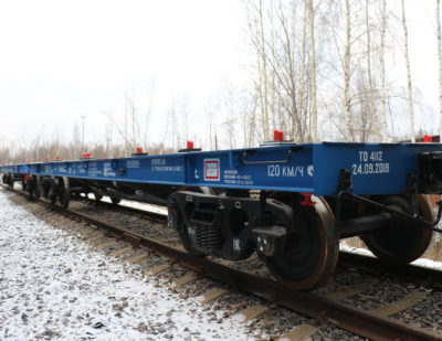 United Wagon Company Delivers 60 Heavy Duty Flat Cars to TransContainer