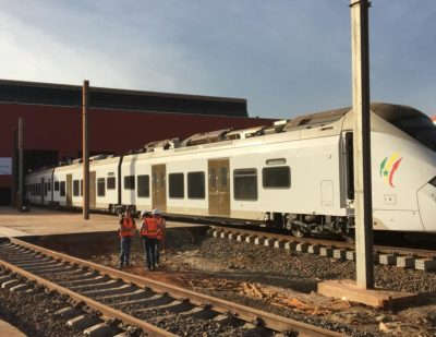 Alstom's Coradia Polyvalent Train Takes First Trip in Senegal