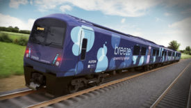 Alstom's new hydrogen train design - the Breeze train