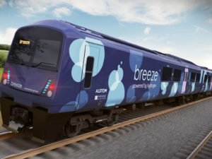Alstom's new hydrogen train design - the Breeze train