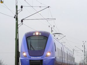 One of Alstom's Coradia Nordic regional trains