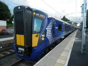 A new Hitachi Class 385 EMU in Scotland