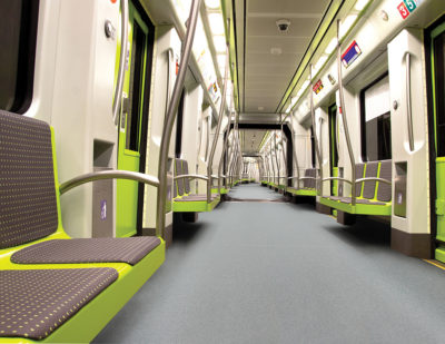 Altro Transflor Tungsten in Gust in a light rail application