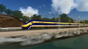 Rendering of the California High Speed train