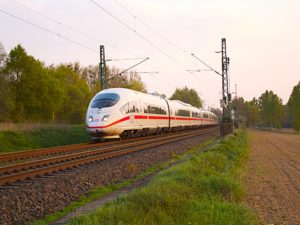 International Deutsche Bahn ICE train