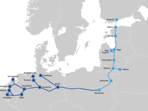 Rail Baltica project map