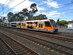 Sydney double-decker train