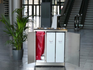 Stainless Steel Waste and Recycling Bins for Railway Stations