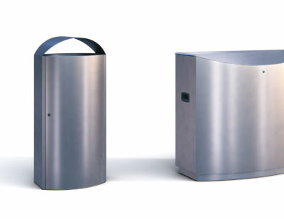AUWEKO Stainless Steel Waste and Recycling Bins