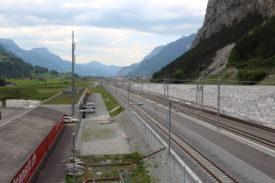 trans-alpine freight transport in Switzerland