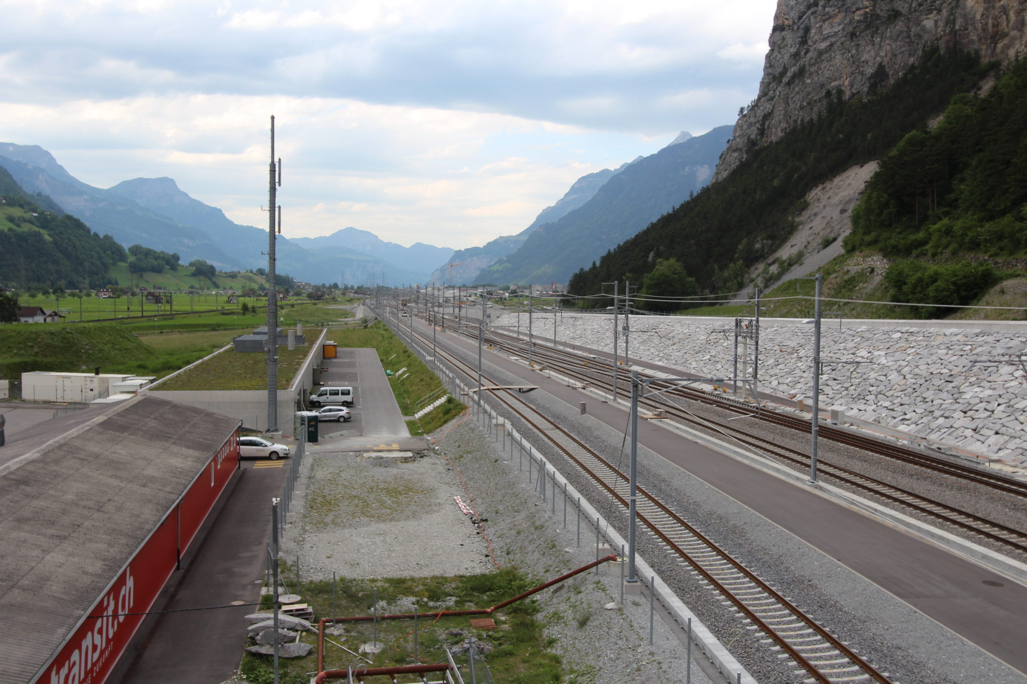 trans-alpine freight transport in Switzerland
