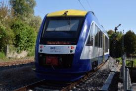 A Coradia LINT in service for Bayerische Regiobahn