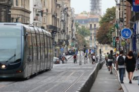 A tram in Bordeaux