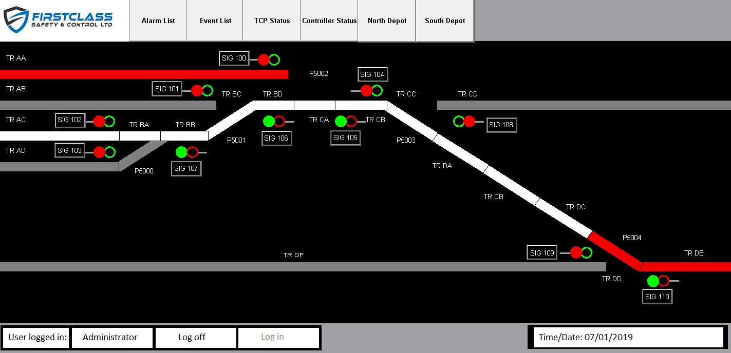 Depot Control System (DCS) screenshot