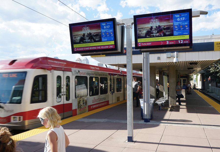 Next Generation LCD Signs for Transit