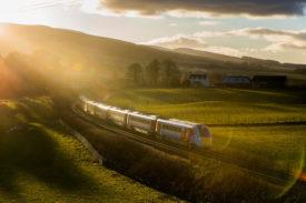 A Hitachi Rail Class 800 Azuma at Gleneagles