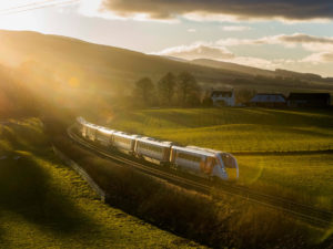 A Hitachi Rail Class 800 Azuma at Gleneagles
