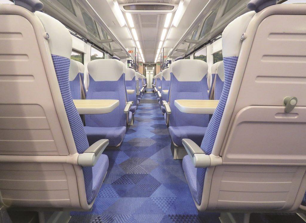 Axminster Carpets created flooring for TransPennine Express