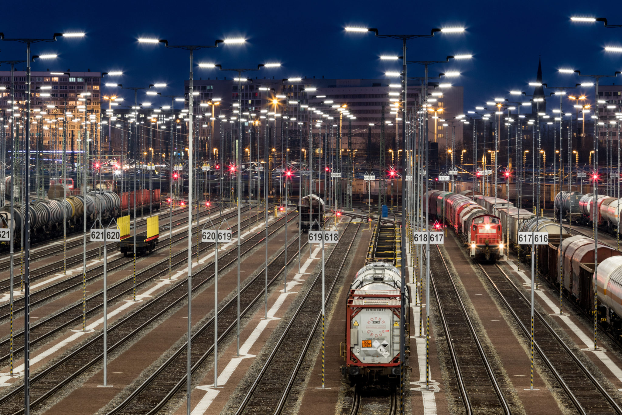 DB Train Formation Yard in Halle (Saale)