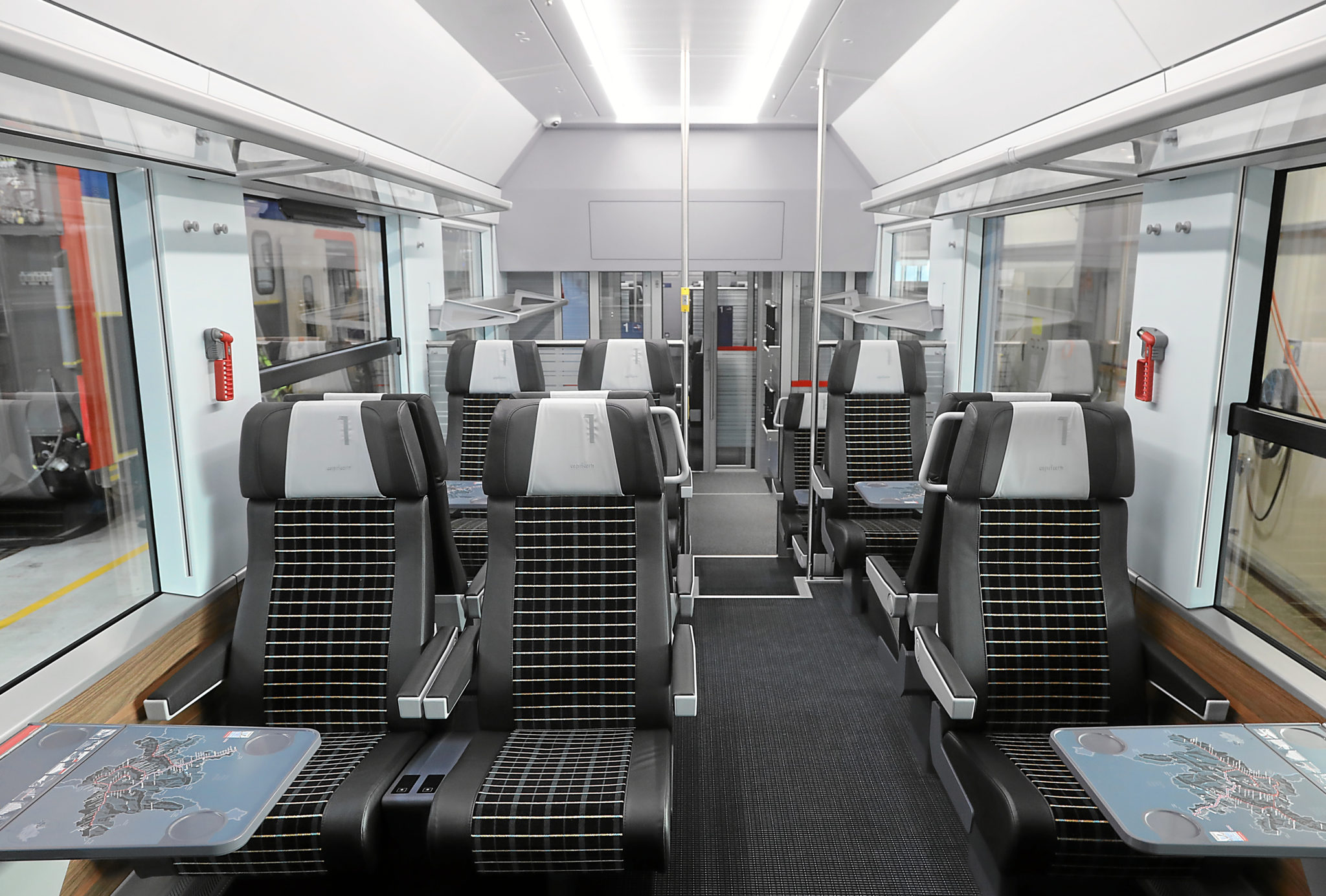 First class interior of the new Capricorn train