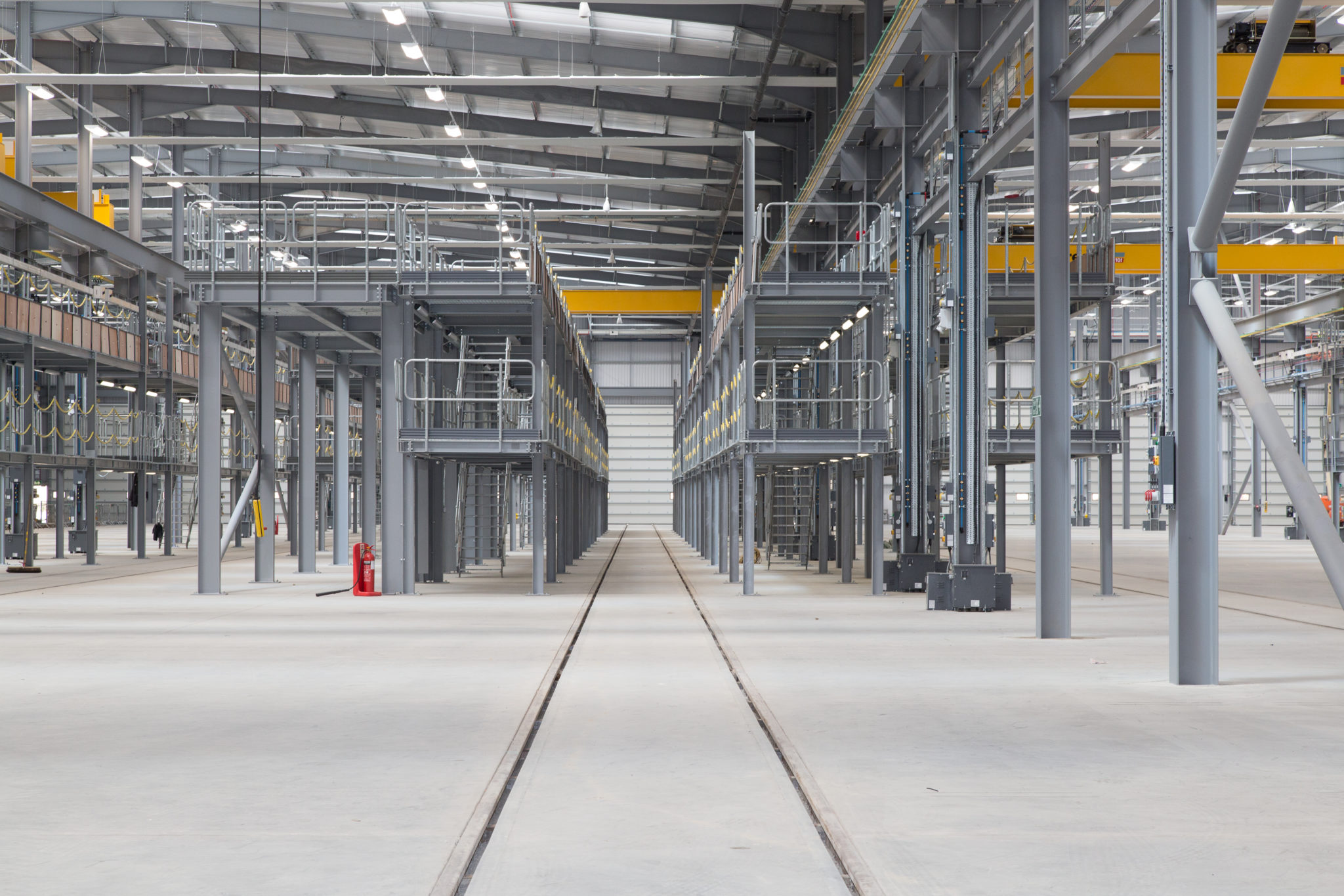 Interior of Hitachi Rail Newton Aycliffe facility