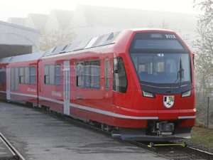 The roll-out of the new Stadler Capricorn train for Rhaetian Railway