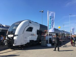 The RRX train, a Siemens Desiro HC, at InnoTrans 2018