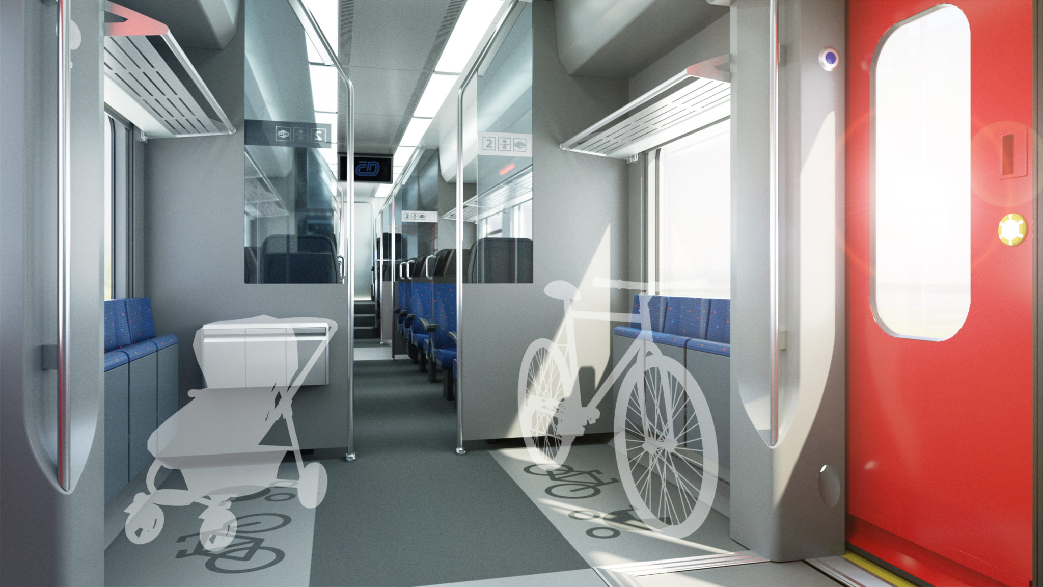 Skoda RegioPanter interior visualisation - bike storage