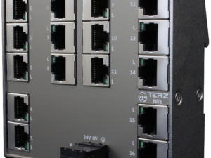 Flat Compact RJ45 Industrial Ethernet Switch with 16 Ports