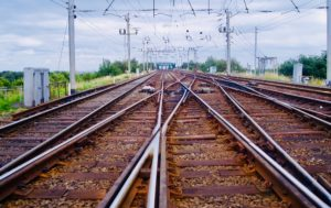 Railway tracks at Acton Grange