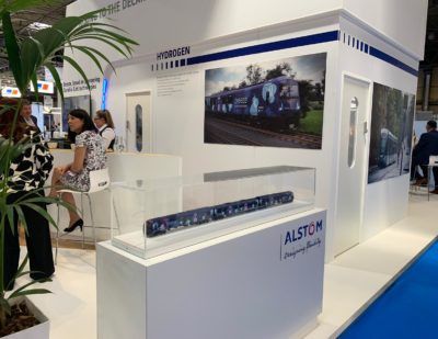 Alstom Presents Hydrogen Breeze Train Model at Railtex