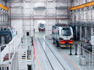 Alstom electric locomotive assembling site in Kazakhstan