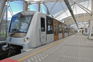 CAF is a major rolling stock manufacturer in Europe. Here: Brussels Metro