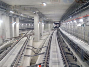 Tunnel along the new Doha Metro Red Line