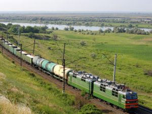 Freight train in Russia